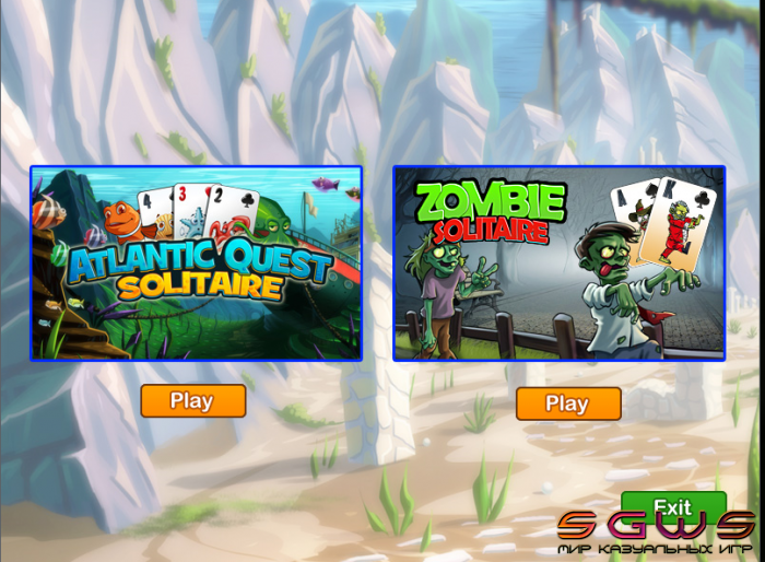 Fish vs Zombies Solitaire Double Pack